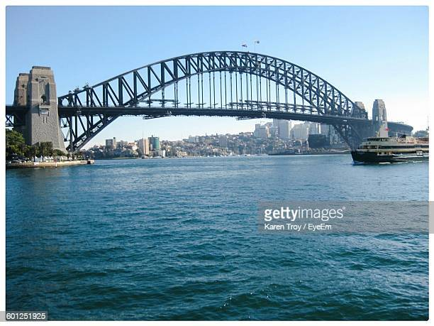 Low Angle View Of Sydney Harbour Bridge Against Sky