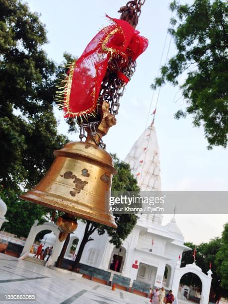 low angle view of temple against sky - chandigarh stock pictures, royalty-free photos & images