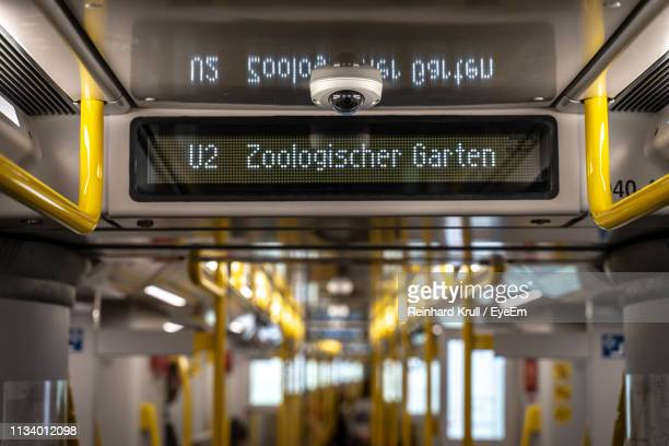 low angle view of text in train - berlin zoo stock pictures, royalty-free photos & images