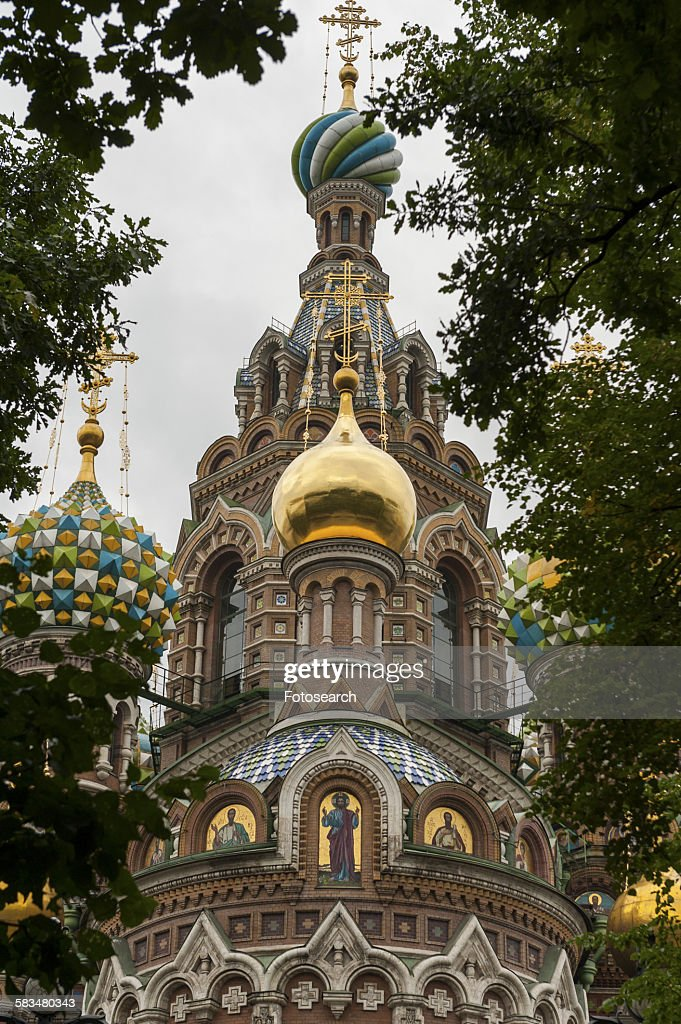 Low angle view of the Church of the Saviour : Stock Photo