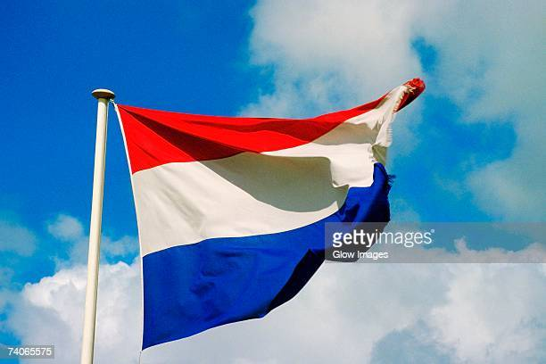 Low angle view of the Dutch flag, Netherlands