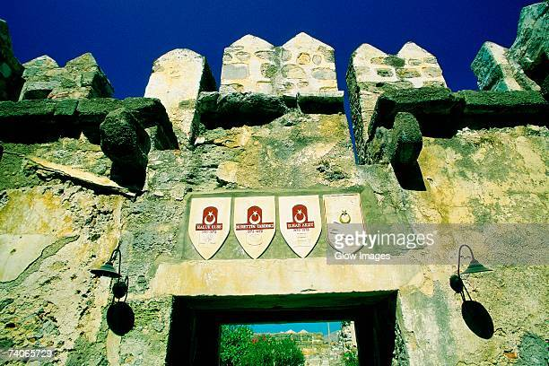 Low angle view of the entrance of a castle, St Peter's Castle, Bodrum, Turkey