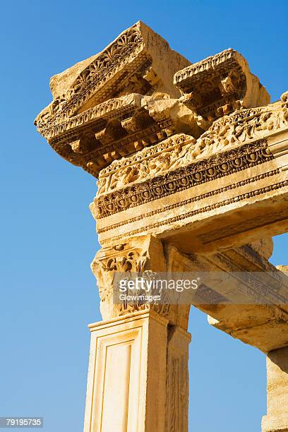 Low angle view of the old ruins, Ephesus, Turkey
