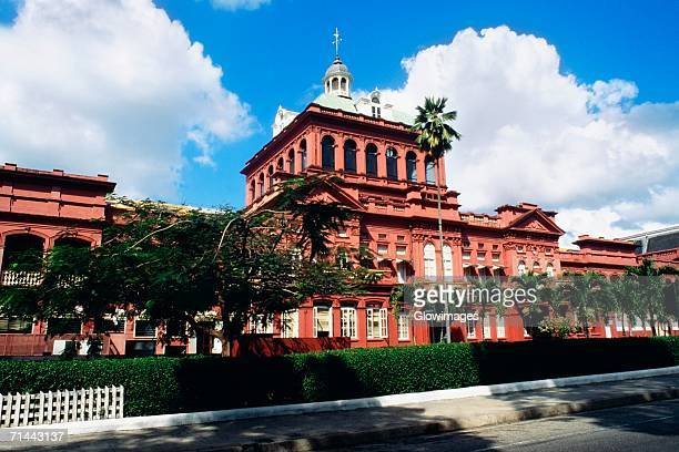 Low angle view of The Parliament Building for Tobago, Port of Spain, Trinidad