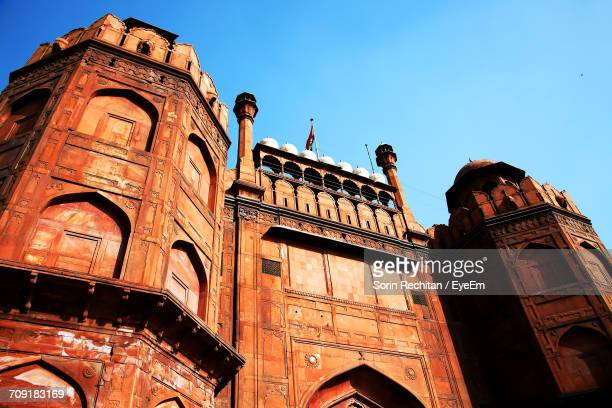 Low Angle View Of The Red Fort Against Clear Sky