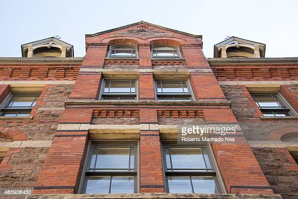 Low angle view of the Royal Conservatory of Music building in Toronto Also known as The Royal Conservatory it is a music education organization and...