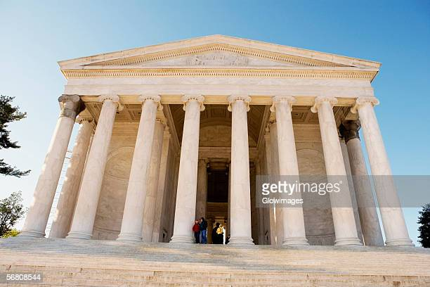 Low angle view of the Thomas Jefferson Memorial, Washington DC, USA