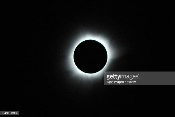 Low Angle View Of Total Solar Eclipse