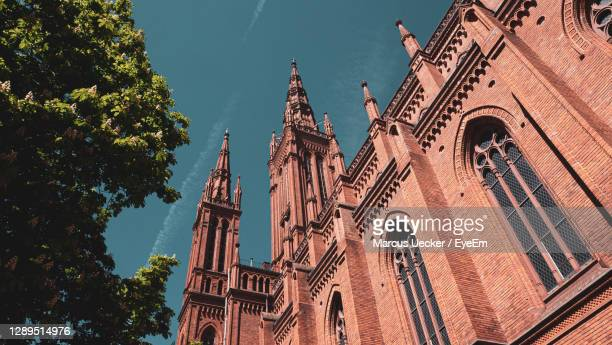 low angle view of traditional building against sky - hanover germany stock pictures, royalty-free photos & images