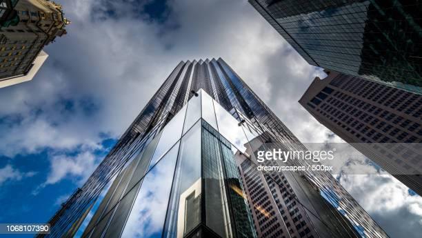 low angle view of trump tower, new york city, new york state, usa - マンハッタン トランプタワー ストックフォトと画像