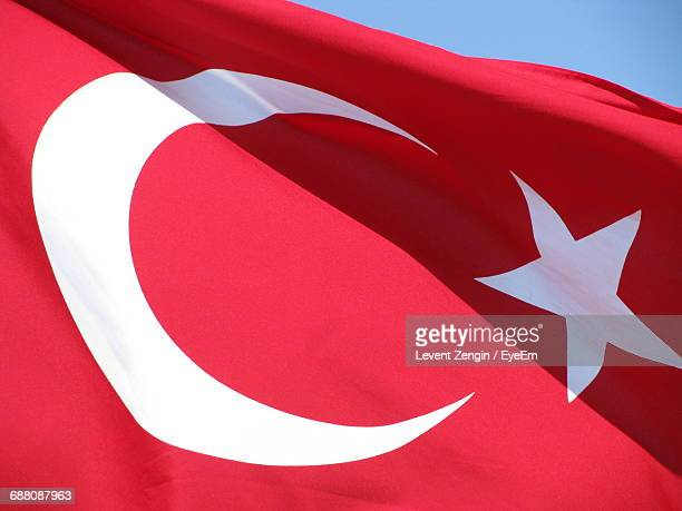 Low Angle View Of Turkish Flag