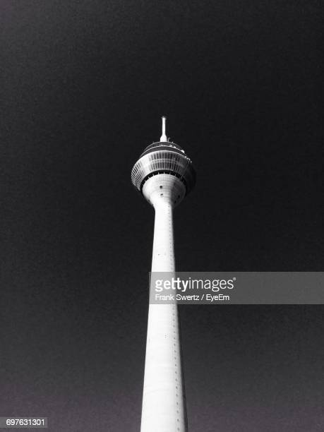 low angle view of tv tower - frank swertz stock pictures, royalty-free photos & images