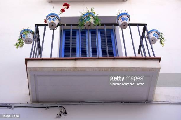 Low Angle View Of typical Balcony in Barcelona