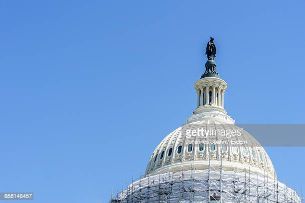 Low Angle View Of Us State Capitol Building