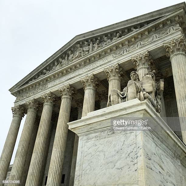 Low Angle View Of Us Supreme Court Building