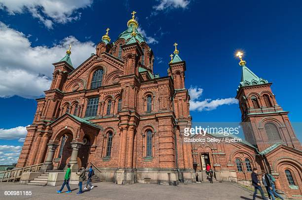 Low Angle View Of Uspenski Cathedral Against Sky In City