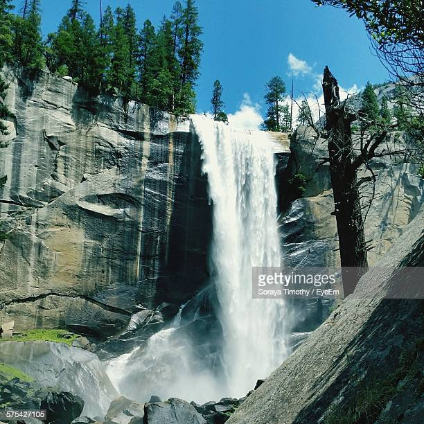 Low Angle View Of Vernal Falls