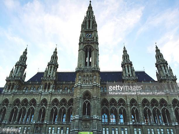 Low Angle View Of Vienna City Hall Against Sky