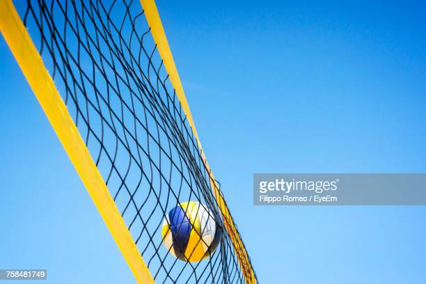 Low Angle View Of Volleyball Net