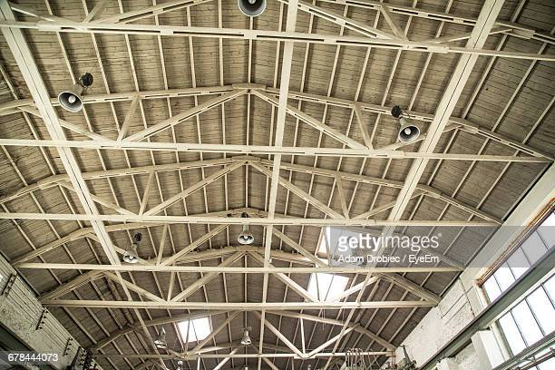 Low Angle View Of Warehouse Ceiling