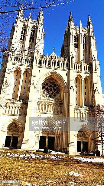 Low Angle View Of Washington National Cathedral Against Sky