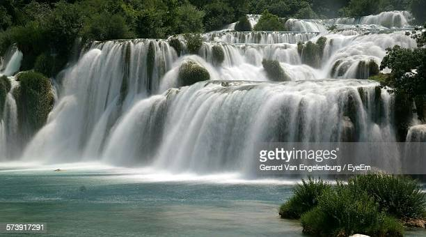 Low Angle View Of Waterfall At Krka National Park
