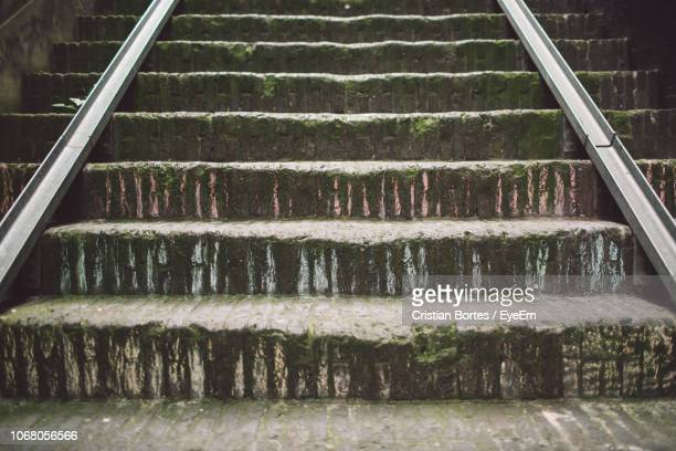 Low Angle View Of Weathered Steps