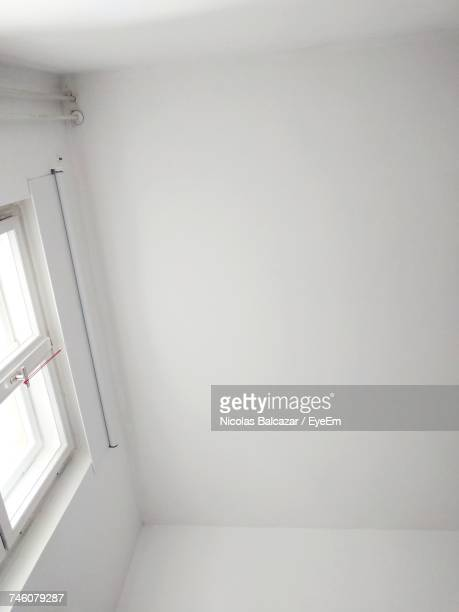 Low Angle View Of White Ceiling At Home