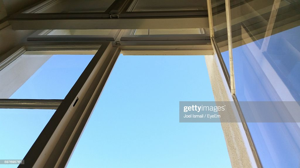Low Angle View Of Window Against Sky : Stock-Foto