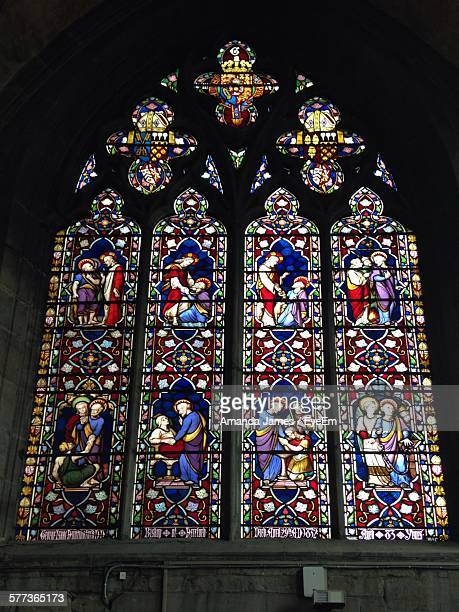 Low Angle View Of Window In Hereford Cathedral