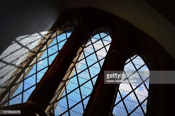low angle view of window - karen mckay stock pictures, royalty-free photos & images