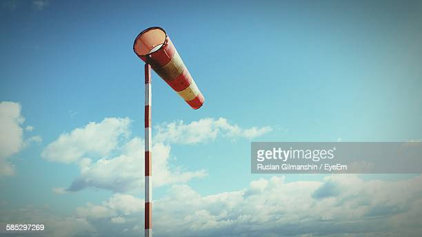 Low Angle View Of Windsock Against Sky
