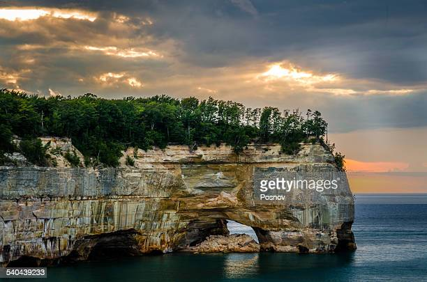 low arch - munising michigan stock pictures, royalty-free photos & images