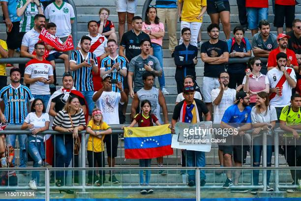 Low attendance the Copa America Brazil 2019 Group A match between Venezuela and Peru at Arena do Gremio stadium on June 15 in Porto Alegre Brazil