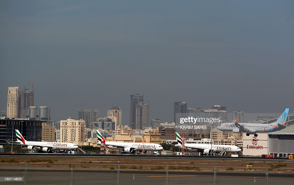A low budget commerical airliner Fly Dub : News Photo