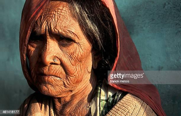 Low caste hindu woman scared