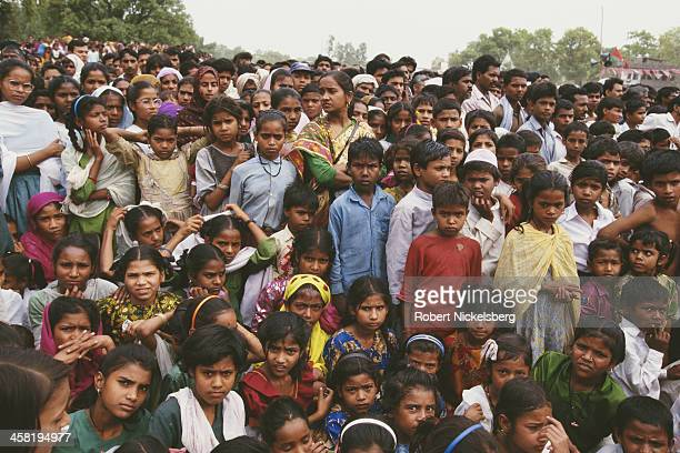 A low caste political rally in Uttar Pradesh India 1996