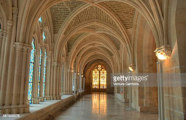 low cloister of the cathedral of burgos - cloister stock pictures, royalty-free photos & images