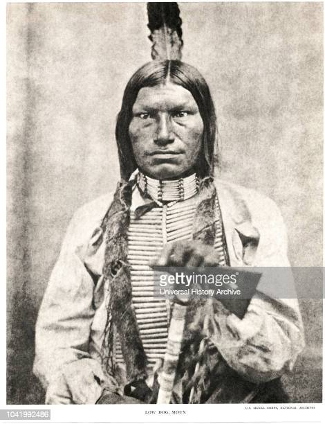 Low Dog 1846-94, Oglala Sioux Chief, Half-Length Portrait, early 1880s.