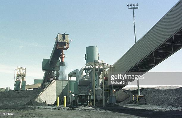 Low emission coal is collected and moved on a conveyer belt April 15 2001 at the Black Butte Coal mine near Rawlins WY The value of Wyoming coal has...