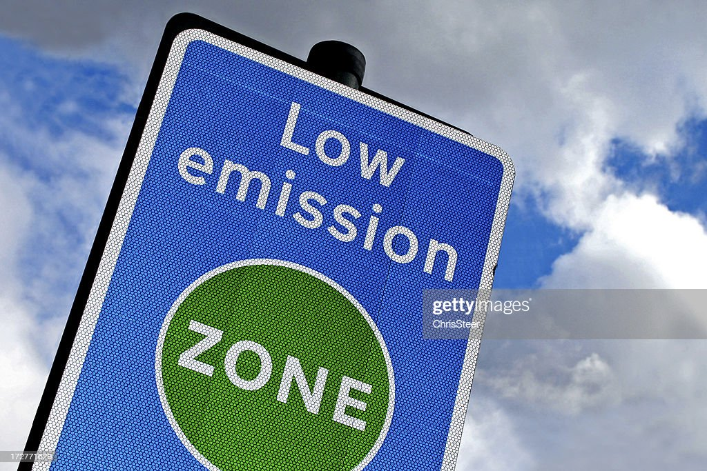Low emission zone in London : Stock Photo
