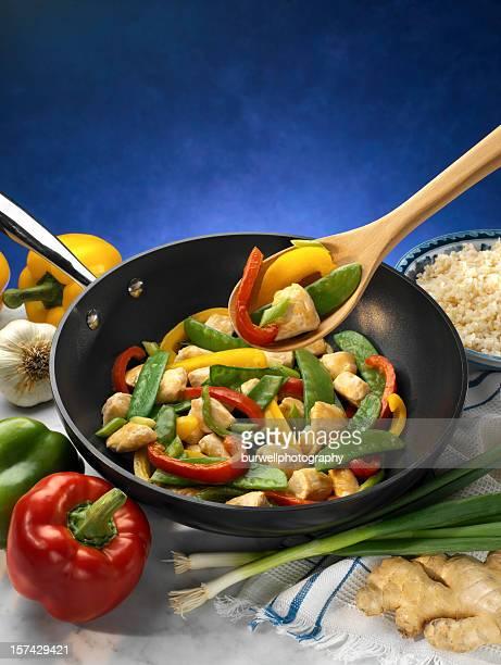 Low fat Paprika und Sautiertes Huhn