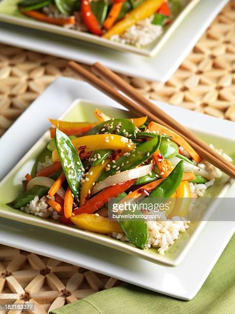 Low fat Stir Fry Vegetables on Brown Rice