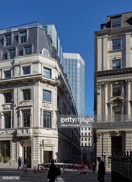 Low level street view Angel Court London United Kingdom Architect Fletcher Priest 2017