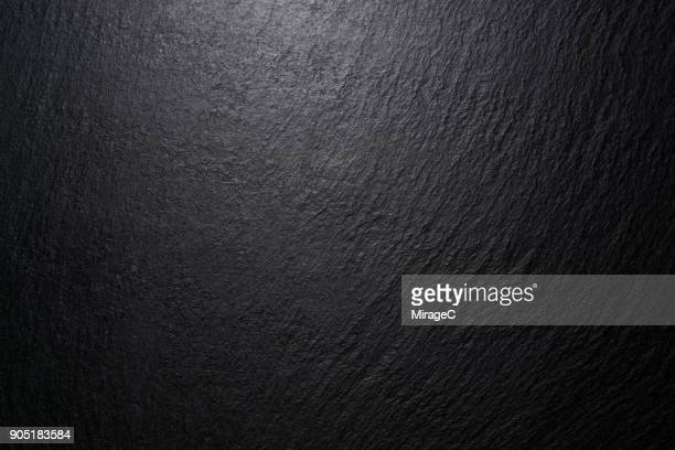 low lighting black slate texture - slate rock stock photos and pictures