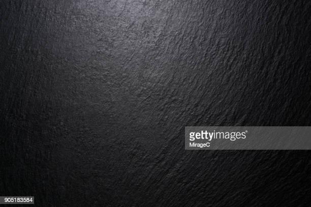 low lighting black slate texture - 黒色 ストックフォトと画像