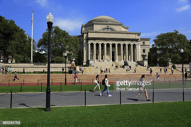 low memorial library in columbia university - columbia university stock pictures, royalty-free photos & images