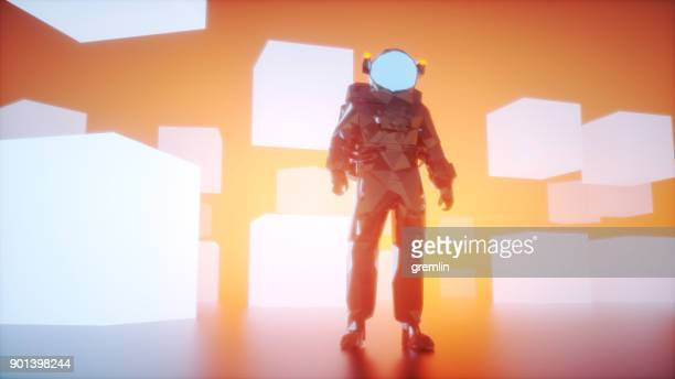 Low-Poly-Astronaut-Videospiel-Charakter