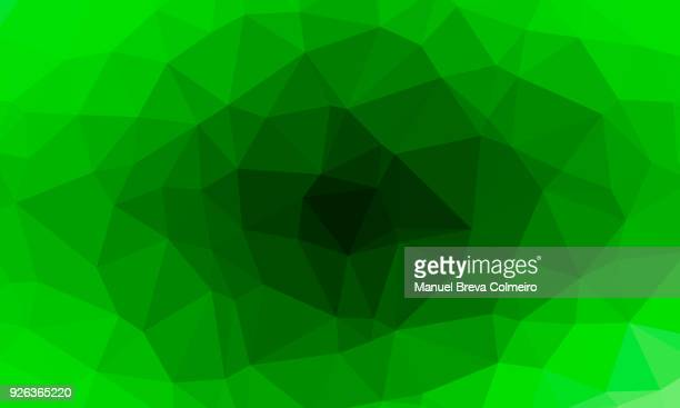 Low poly background in green