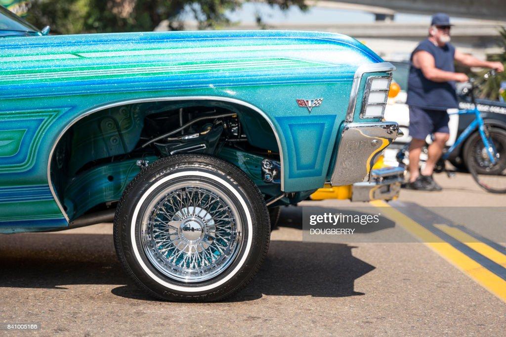 Low Rider Vehicles At Car Show San Diego California Stock Photo - San diego car show